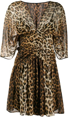 No.21 Leopard Print Silk Dress