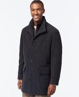 Cole Haan Wool-Blend Knit-Collar Overcoat