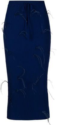 Marques Almeida Ostrich Feather Knit Skirt