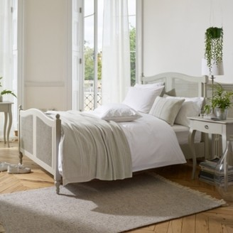 The White Company Provence Bed, Pale Grey, Double