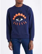 Kenzo Icon Evil Eye-print Stretch-cotton Sweatshirt