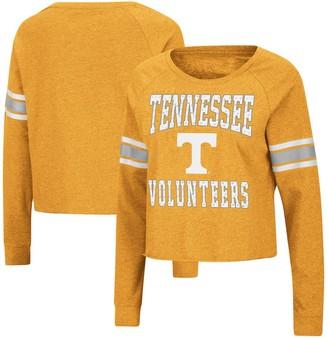 Colosseum Women's Tennessee Orange Tennessee Volunteers Whimsical Striped Rhinestone Long Sleeve T-Shirt