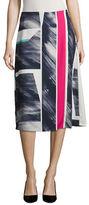 Ellen Tracy Printed A-Line Skirt