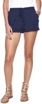 En Creme Drawstring Shorts