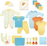 Luvable Friends Boys' Infant Bodysuits Yellow - Blue 24-Piece Bodysuit & Towel Gift Pack - Newborn