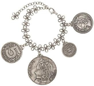 Chanel Pre-Owned 2003 logo medallions chain bracelet