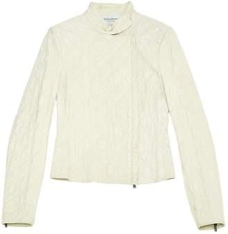 Saint Laurent \N Ecru Leather Jackets