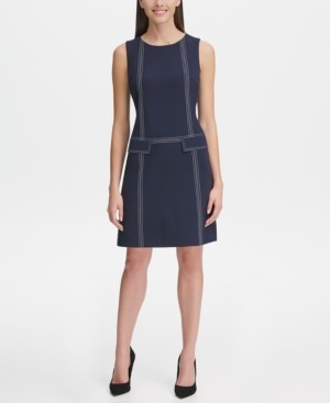 Tommy Hilfiger Petite Stitch-Trim Shift Dress