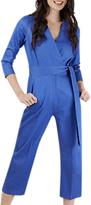 Closet Wrap Tie Jumpsuit, Blue