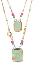 Thumbnail for your product : Gas Bijoux Totem Eclat 24K Goldplated & Enamel Scapulaire Necklace