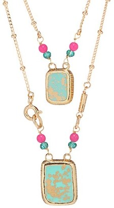 Gas Bijoux Totem Eclat 24K Goldplated & Enamel Scapulaire Necklace