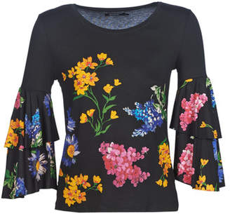 Desigual FLAVIA women's Long Sleeve T-shirt in Black
