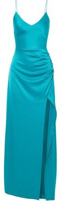 Alice + Olivia Fallon Ruched Satin Gown