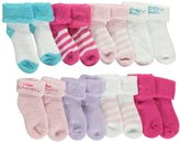 "Luvable Friends Baby Girls' ""Daddy Loves Me"" 8-Pack Socks"