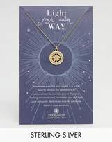 Dogeared Gold Plated Light Your Own Way Sun Salutation Coin Charm Necklace