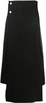 Plan C Drape Panel Pencil Skirt