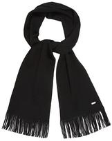 J By Jasper Conran Black Merino Wool Scarf