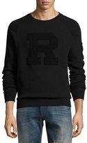 Ralph Lauren Jersey Varsity Sweatshirt, Black
