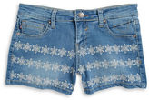 Vigoss Girls 7-16 Girls Floral Embroidered Shorts