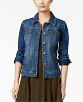 Style&Co. Style & Co Petite Mosaic Wash Denim Jacket, Created for Macy's
