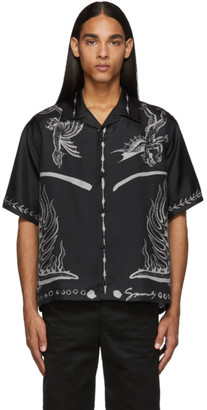Givenchy Black Icarus Hawaiin Short Sleeve Shirt