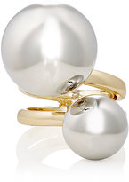Kenneth Jay Lane WOMEN'S DOUBLE SPHERE CAGE RING-GOLD