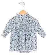 Petit Bateau Girls' Floral Print Long Sleeve Top