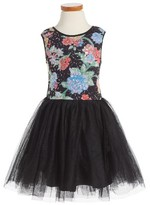 Toddler Girl's Pippa & Julie Sequin & Tulle Dress