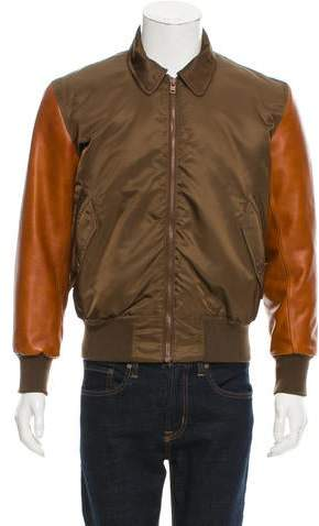 Givenchy Leather-Trimmed Flight Jacket