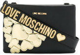 Love Moschino multi hearts crossbody bag