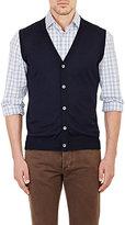 Isaia Men's Button-Front Vest-NAVY