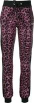 Philipp Plein Pink Paradise crystal-embellished leopard sweatpants