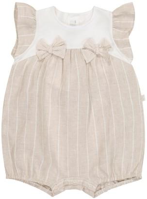 Il Gufo Baby striped cotton romper