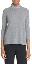 Kate Spade Collared Relaxed Wool Sweater