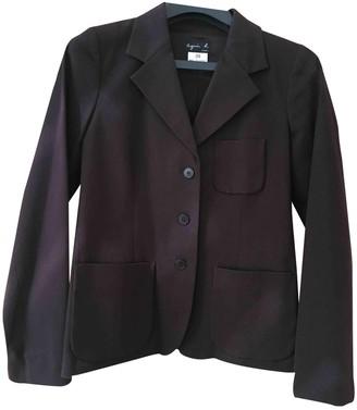 agnès b. \N Burgundy Cotton Jacket for Women