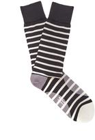 Paul Smith Striped cotton-blend socks