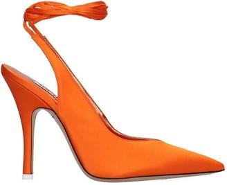 ATTICO The Sandals In Orange Tech/synthetic