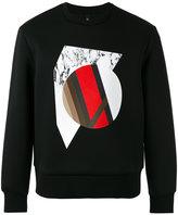 Neil Barrett geometric print sweatshirt - men - Polyurethane/Viscose - XS