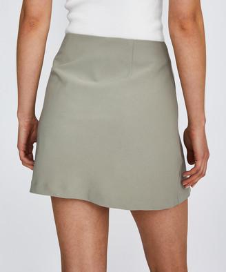 Alice In The Eve Selena High Split Skirt Green