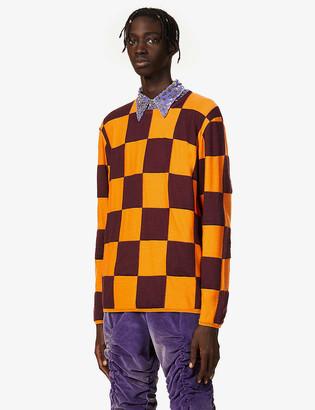 Comme des Garçons Homme Plus Checked crewneck wool-blend jumper