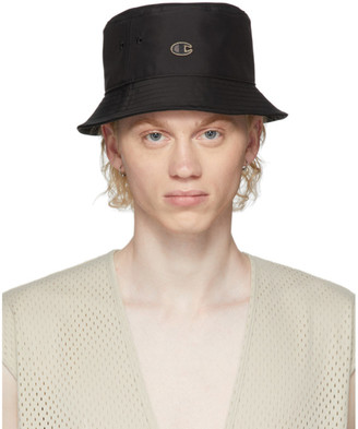 Rick Owens Black Champion Edition Gilligan Bucket Hat