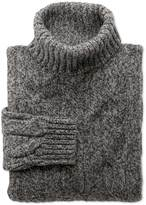 Grey Mouline Roll Neck Jumper