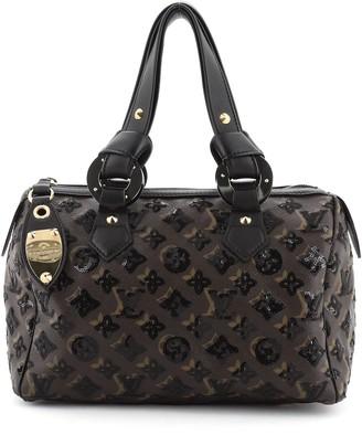 Louis Vuitton Speedy Handbag Limited Edition Monogram Eclipse Sequins 28
