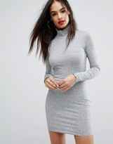 PrettyLittleThing Ribbed Bodycon Dress