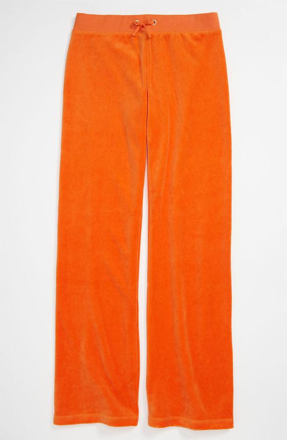 Juicy Couture 'Basic' Velour Pants (Little Girls & Big Girls)