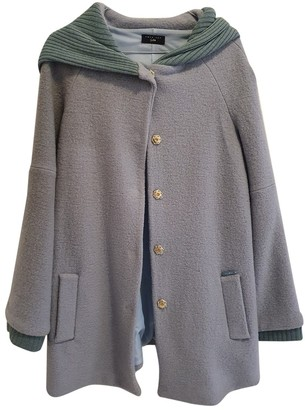 Twin-Set Twin Set Turquoise Wool Coat for Women