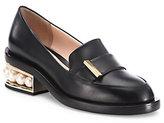 Nicholas Kirkwood Casati Pearly Heel Leather Loafers
