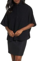 Anne Klein Women's Zip Front Boiled Wool Cape