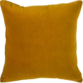 Wallace Cotton Andorra Large Square Cushion Cover Old Gold