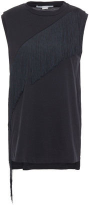 Stella McCartney Fringed Cotton-jersey Top